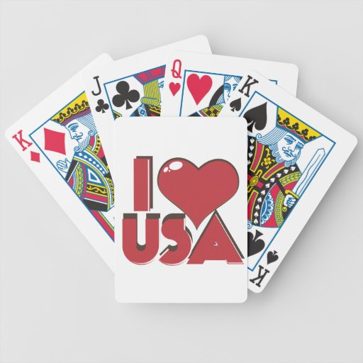 I Love USA Retro 80s Bicycle Playing Cards