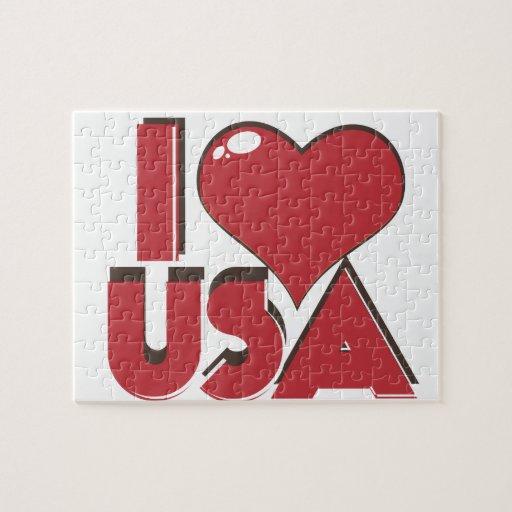 I Love USA Retro 80s Jigsaw Puzzle