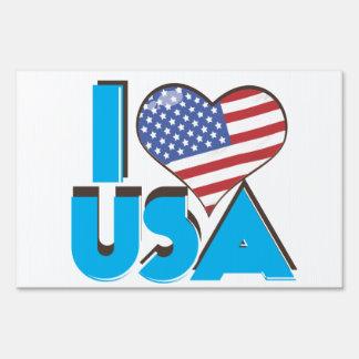 I Love USA Retro 80s Sign