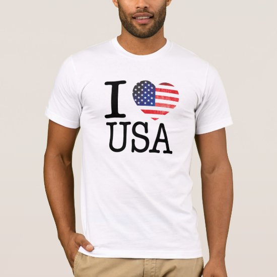 I Love USA Shirt