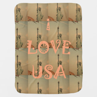 I love USA Statue of Liberty Baby Blankets