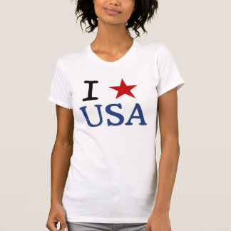 I LOVE USA t-shirt I HEART USA t-shirt-with star.