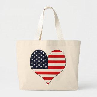I Love Usa Tote Bags