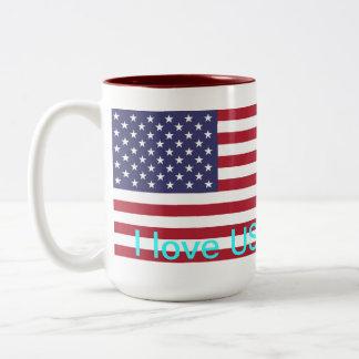 I love USA Two-Tone Coffee Mug