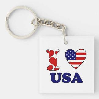I love USAS Keychain