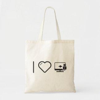 I Love Usb Connectors Budget Tote Bag