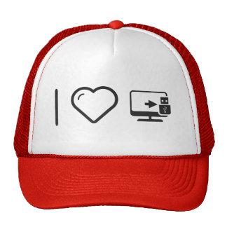 I Love Usb Connectors Trucker Hat