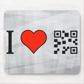 I Love Using Qr Codes Mouse Pad