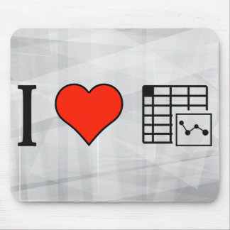 I Love Using Spreadsheet Mouse Pad