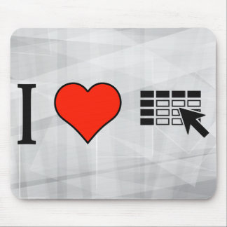 I Love Using Spreadsheets Mouse Pad