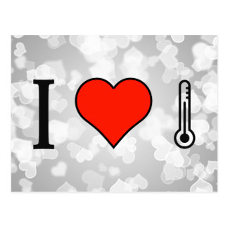 I Love Using Thermometers Postcard