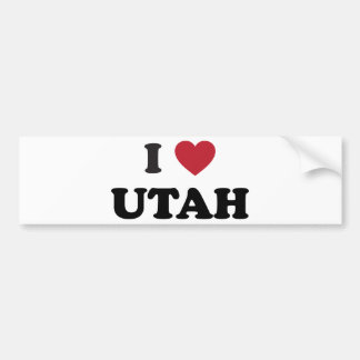 I Love Utah Bumper Sticker