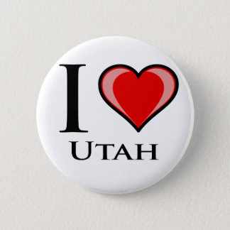 I Love Utah Button