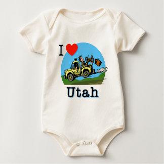 I Love Utah Country Taxi Baby Bodysuit
