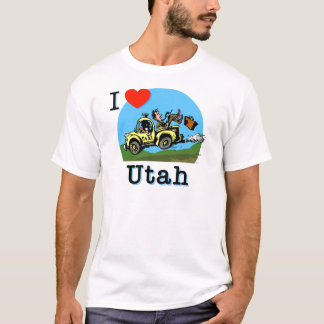 I Love Utah Country Taxi T-Shirt