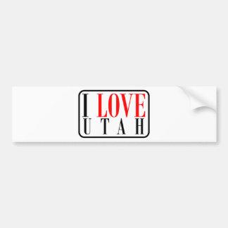 I Love Utah Design Bumper Sticker