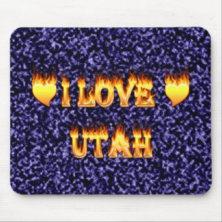I love utah fire and flames mouse pad