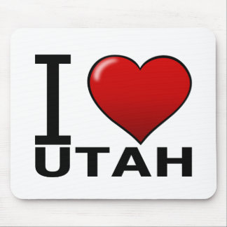 I LOVE UTAH MOUSE PAD