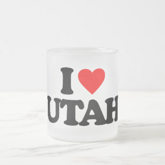 I LOVE UTAH COFFEE MUGS