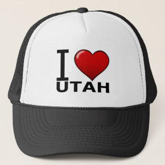 I LOVE UTAH TRUCKER HAT
