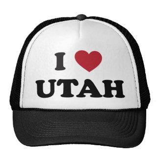 I Love Utah Trucker Hats
