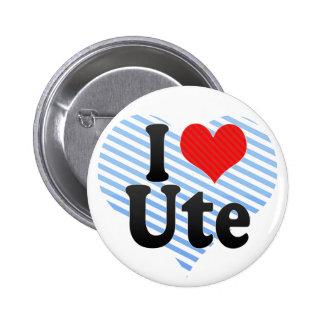 I Love Ute Button