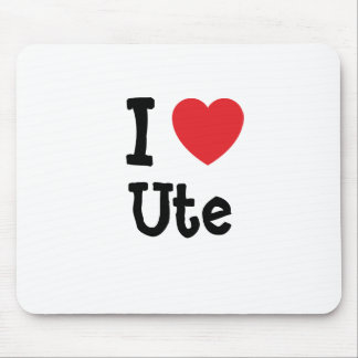 I love Ute heart T-Shirt Mouse Pad