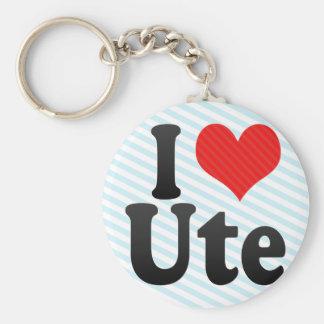 I Love Ute Keychain