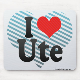 I Love Ute Mouse Pad