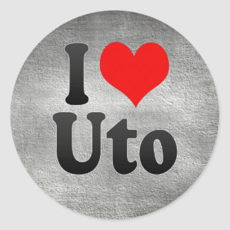 I Love Uto, Japan Classic Round Sticker