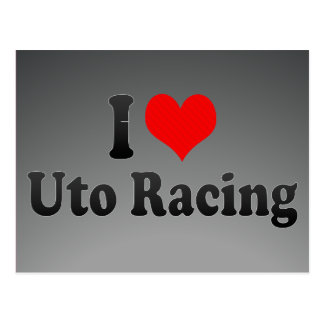 I love Uto Racing Postcard