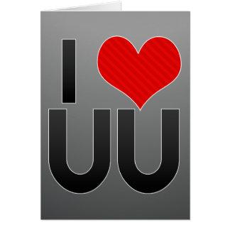 I Love UU Stationery Note Card