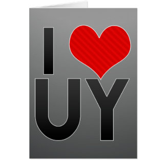 I Love UY Stationery Note Card