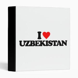 I LOVE UZBEKISTAN VINYL BINDERS