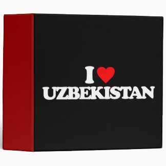 I LOVE UZBEKISTAN 3 RING BINDER