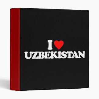 I LOVE UZBEKISTAN 3 RING BINDERS