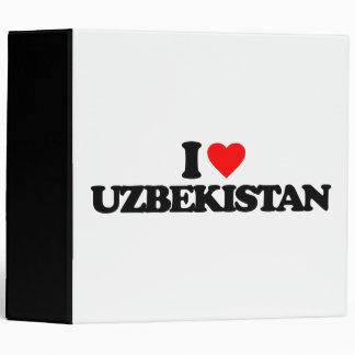 I LOVE UZBEKISTAN BINDERS