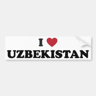 I Love Uzbekistan Car Bumper Sticker