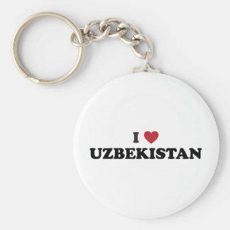 I Love Uzbekistan Basic Round Button Keychain