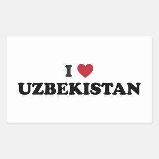 I Love Uzbekistan Rectangular Sticker