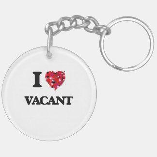 I love Vacant Double-Sided Round Acrylic Keychain