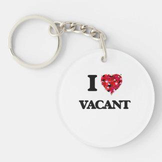 I love Vacant Single-Sided Round Acrylic Keychain
