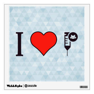 I Love Vaccinations Wall Decal
