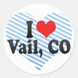 I Love Vail, CO Classic Round Sticker