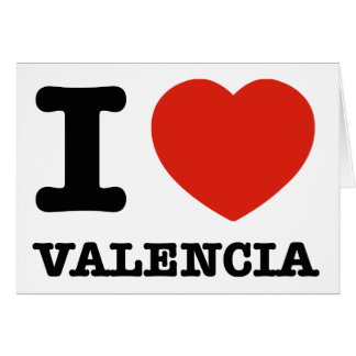 I Love Valencia Card