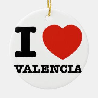 I Love Valencia Ceramic Ornament