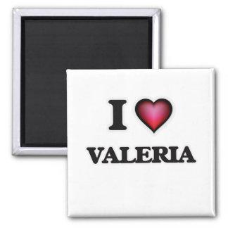 I Love Valeria 2 Inch Square Magnet
