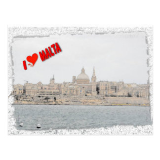 I love Valletta Postcard