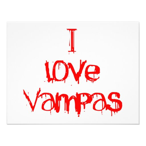 I Love Vampas Invitations