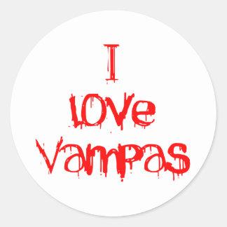 I Love Vampas Round Sticker